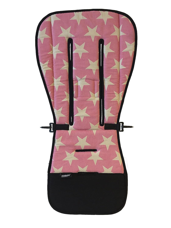 addbaby 106525Asiento Cojín para el carrito estrellas, color rosa