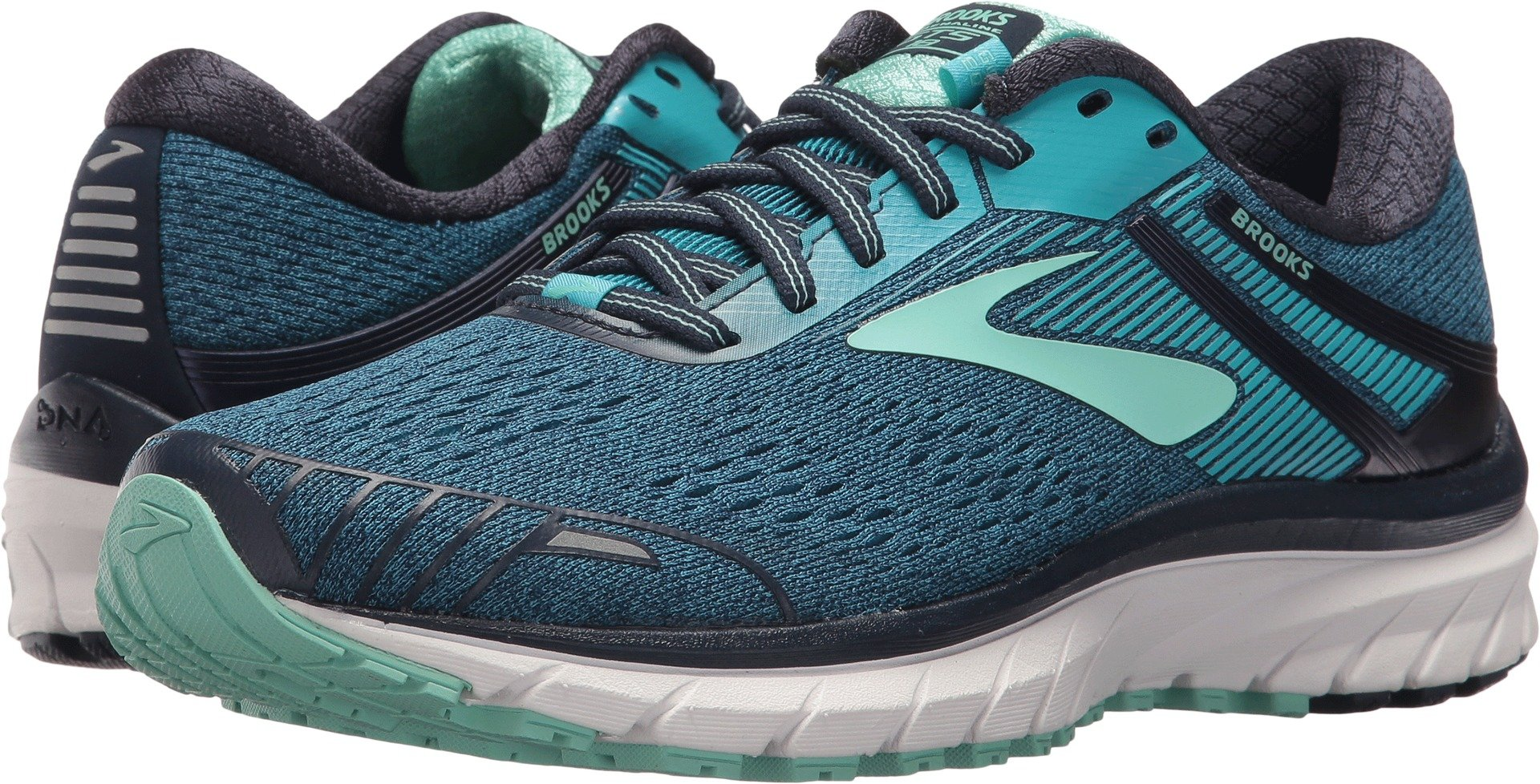 Brooks Women's Adrenaline GTS 18 Navy/Teal/Mint 5 B US