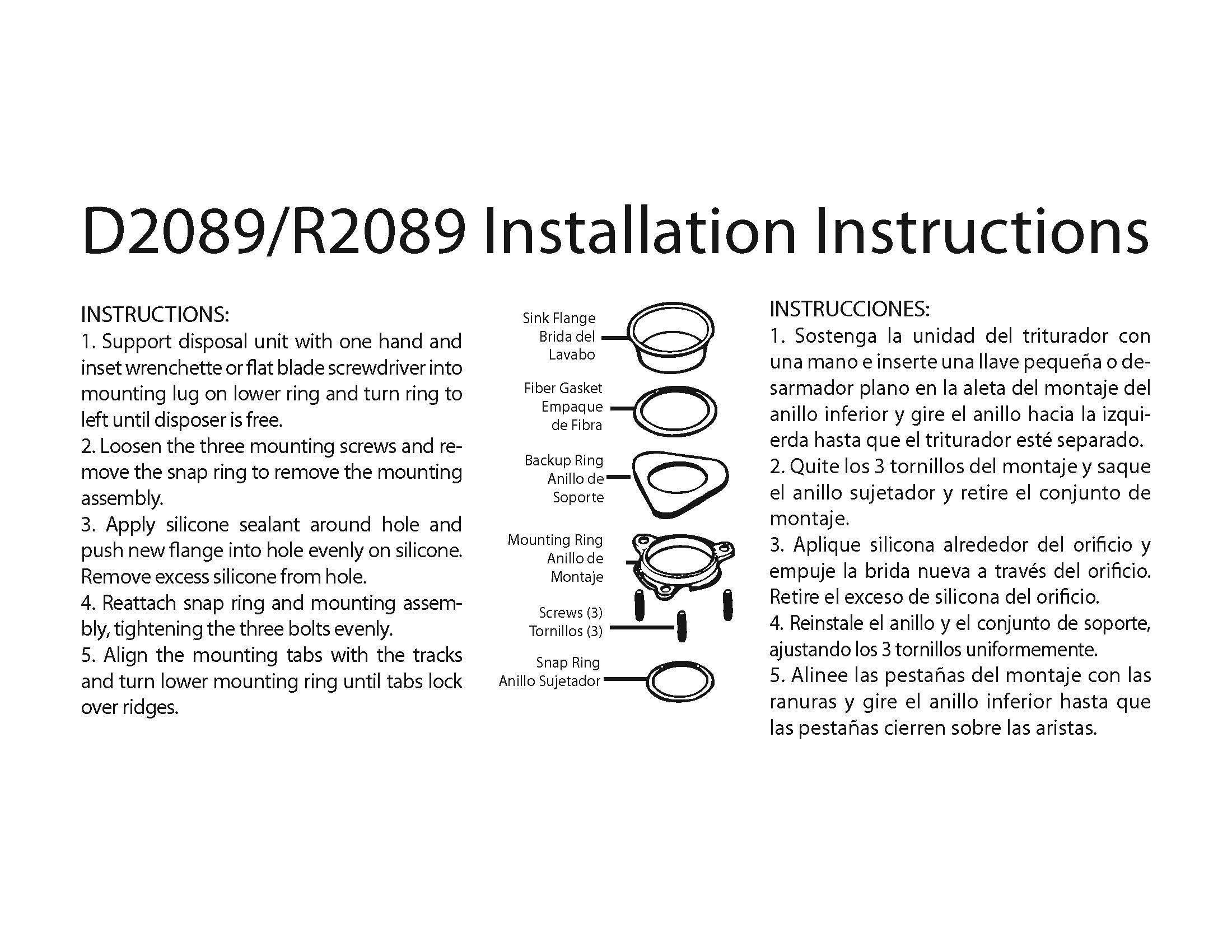 Westbrass InSinkErator Style Disposal Flange & Stopper, Matte Black, D2089-62 (Renewed) by Westbrass (Image #3)
