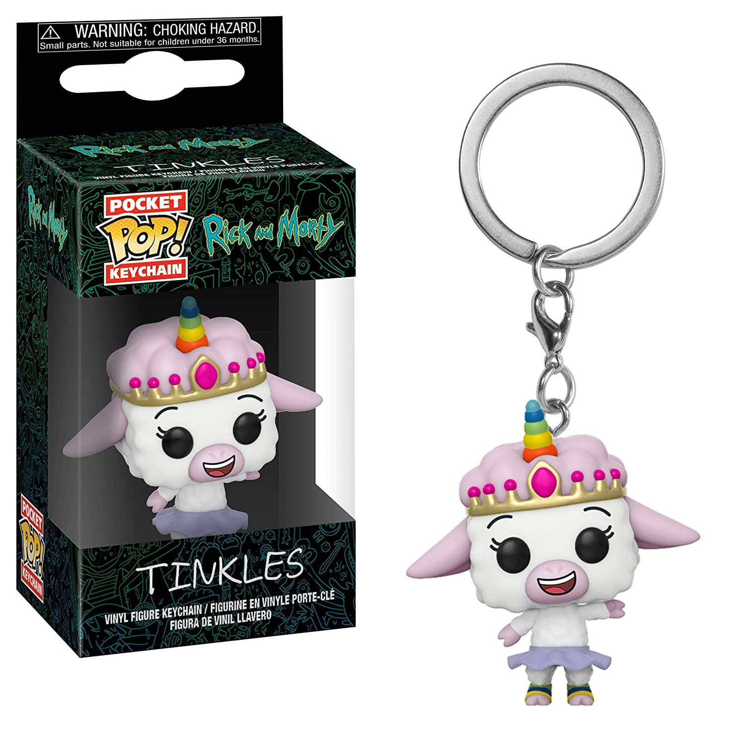Funko 35931 Pop! Keychain: Rick & Mortytinkles, Multicolor