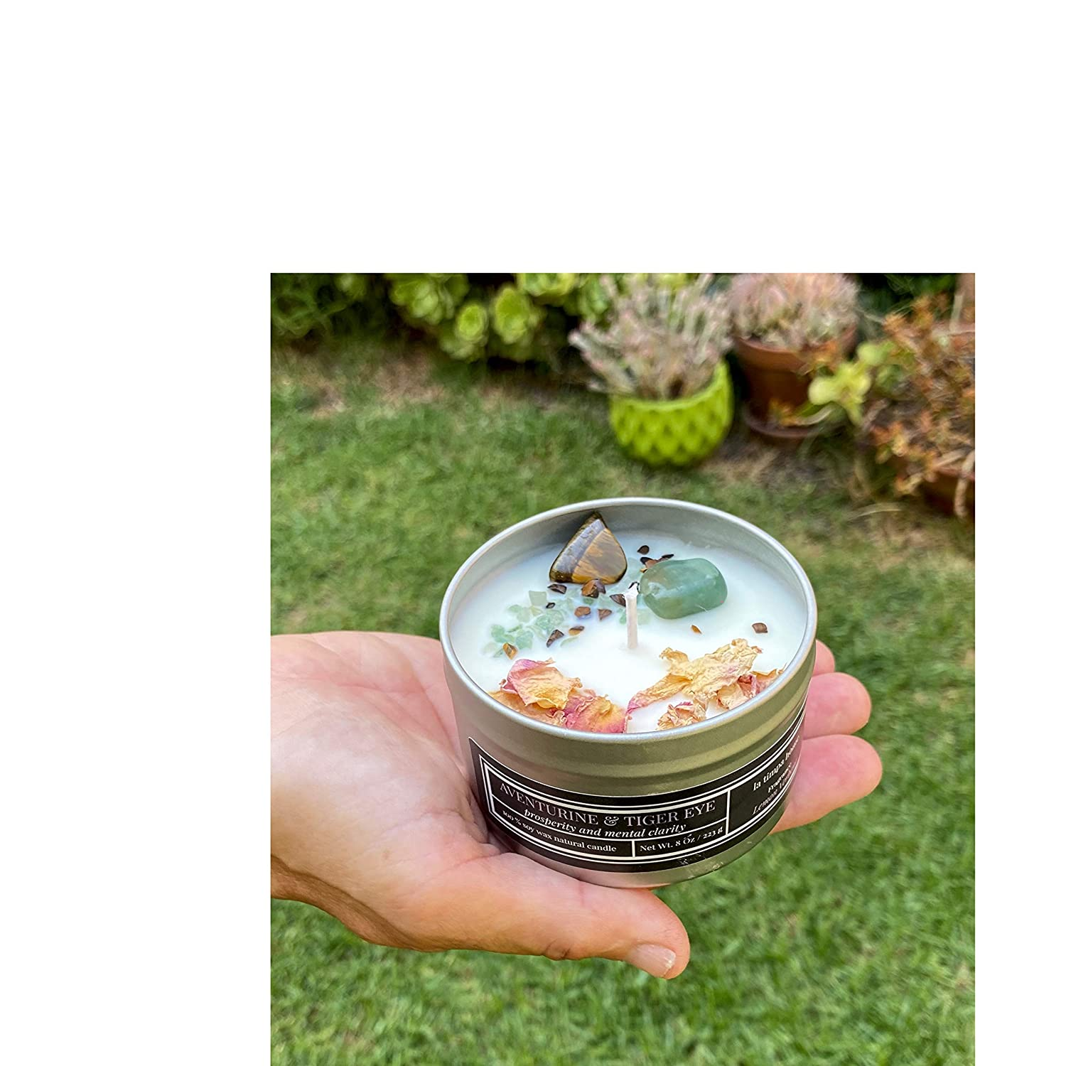 Soy Candles for Prosperity Gemstones Explore now! Ritual and Meditation Intention Candle Prosperity and Mental Clarity