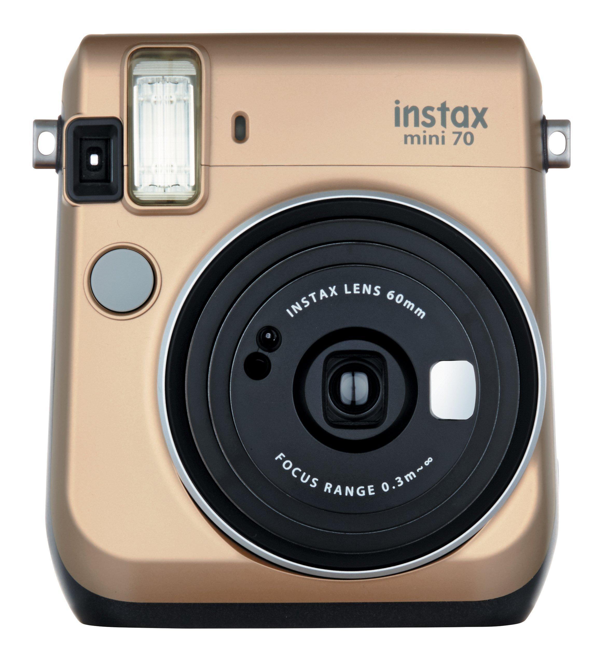 Fujifilm Instax Mini 70 - Instant Film Camera (Gold) by Fujifilm