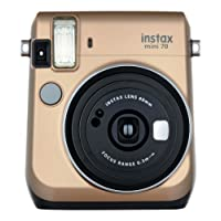Fujifilm Instax Mini 70 - Instant Film Camera (Gold)