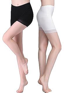 FEPITO 3 Pares de Mujeres Debajo de la Falda Pantalones Cortos ...