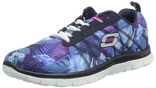 Skechers SKEES - Flex Appeal-Floral Bloom, Scarpa Tecnica da donna, blu (
