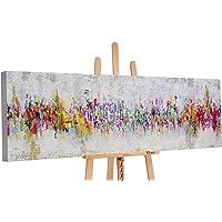 """YS-Art """"Premium"""" Quadro Dipinto con Colori Acrilici Astrazione II   Muro   Mano   Arte Moderna   Tela   Unico   Multicolore"""