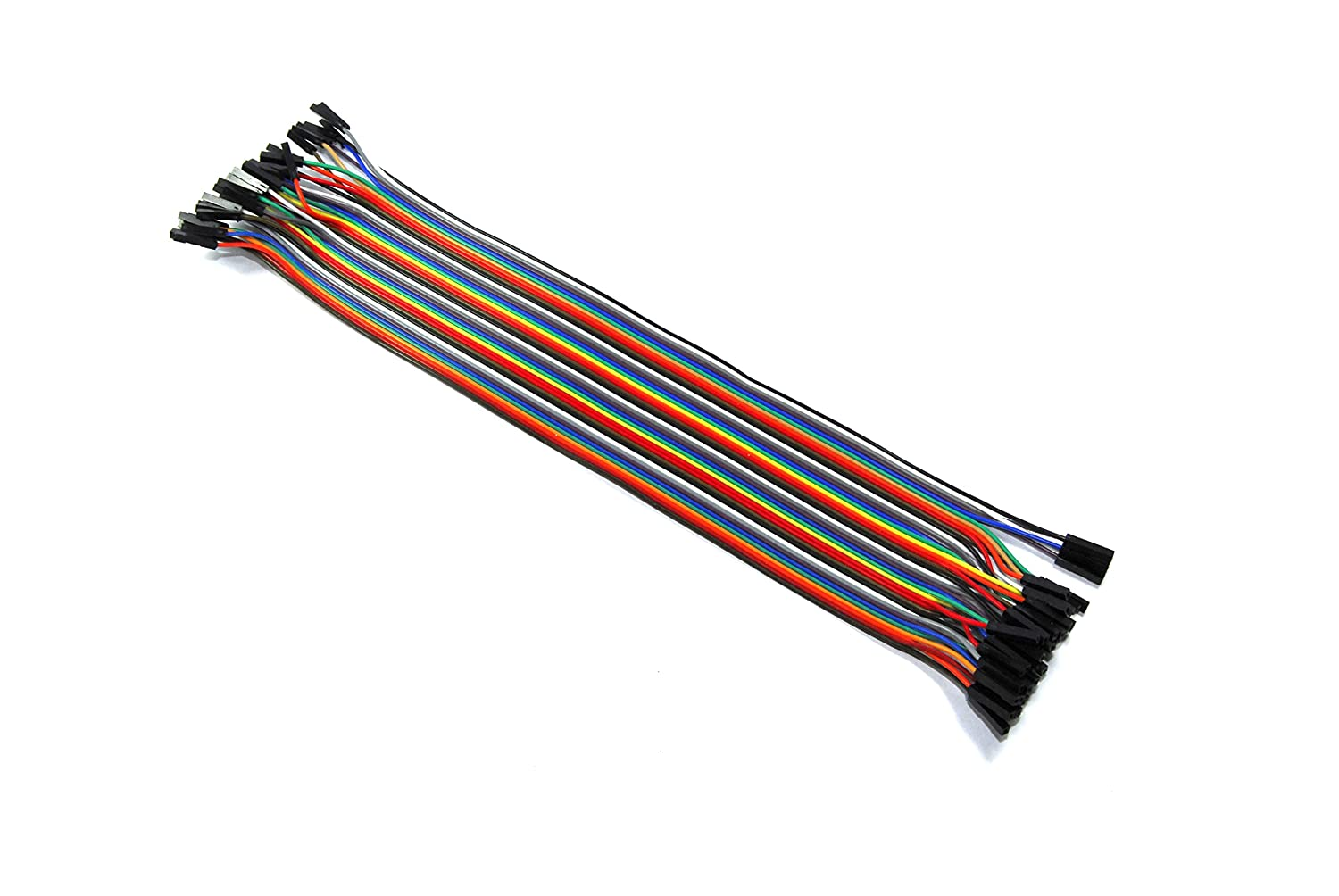 40 Female to Female Jumper Wires Solderless 30cm Ribbon Arduino Unbranded/Generic GBAA100007