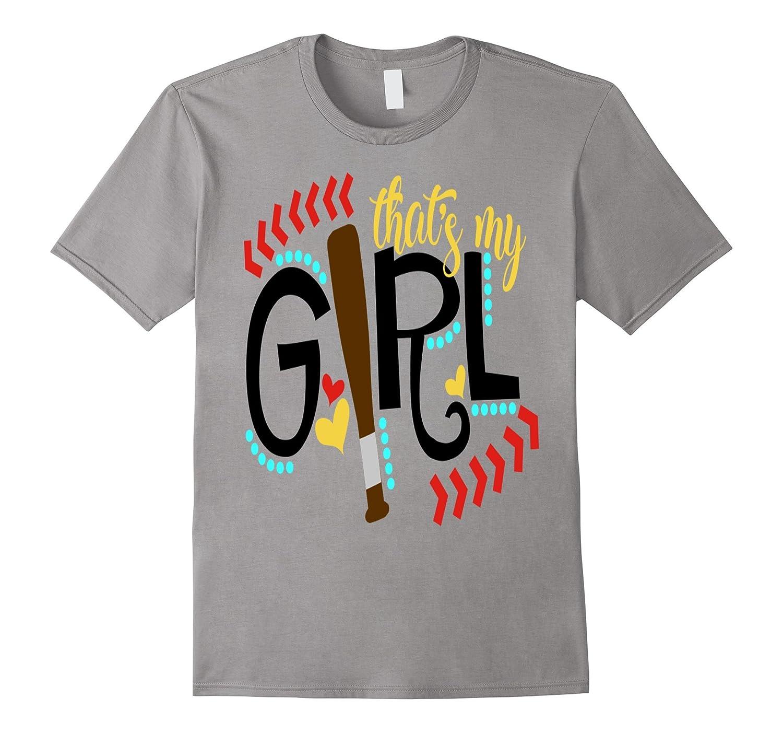 Baseball Shirt Kids Thats My Girl Softball Mom Dad Daughter-PL