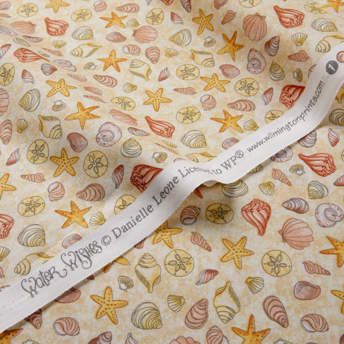 Water Wishes 9 Piece Collection Wilmington Prints Cotton Quilt Fabrics Sewing Quilting Material-Choose Your Cut