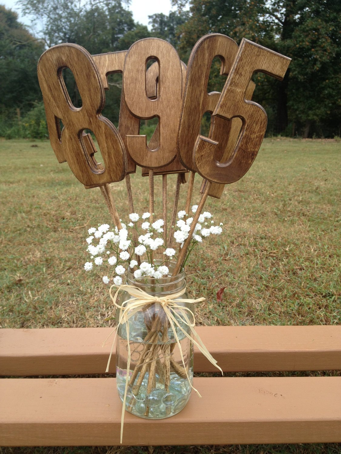 Amazon.com: Wooden Table Numbers   Rustic Wedding Decor   Wedding  Centerpiece   Wedding Table Decor   Wedding Table Signs: Handmade