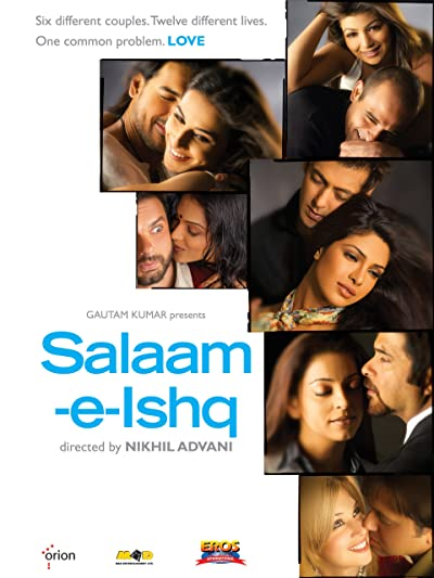 Poster of Salaam-E-Ishq 2007 Full Hindi Free Download Watch Online In HD Movie Download 480p HDRip