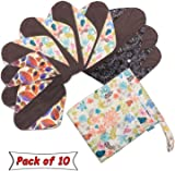 Reusable Sanitary Pads(Pack of 10) for Women, with Wet Dry Bag- by Teamoy