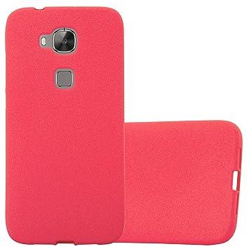 Cadorabo Funda para Huawei G7 Plus / G8 / GX8 en Frost Rojo - Cubierta Proteccíon de Silicona TPU Delgada e Flexible con Antichoque - Gel Case Cover ...