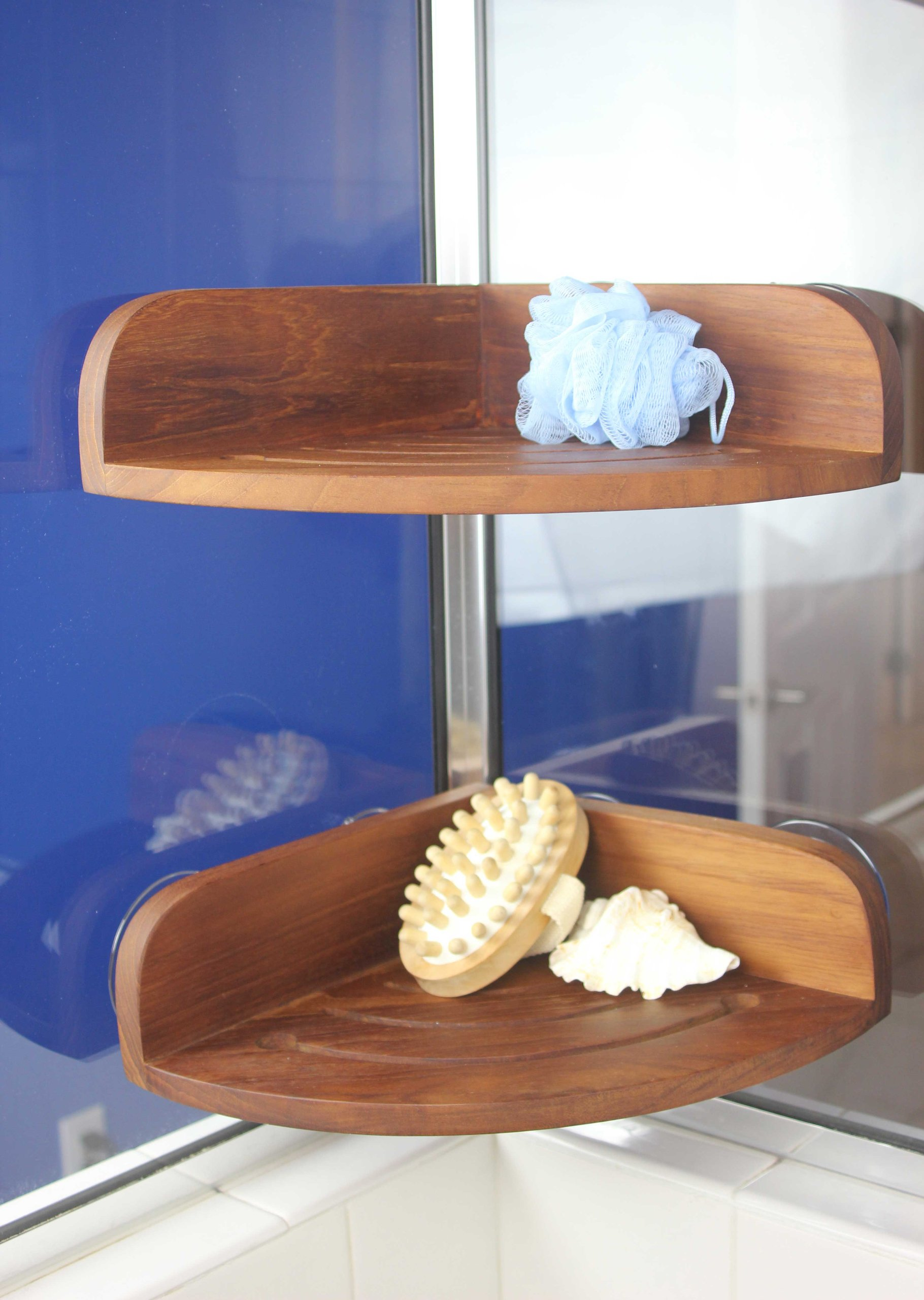 The Original Kai Corner Teak Shower Shelf by AquaTeak (Image #3)