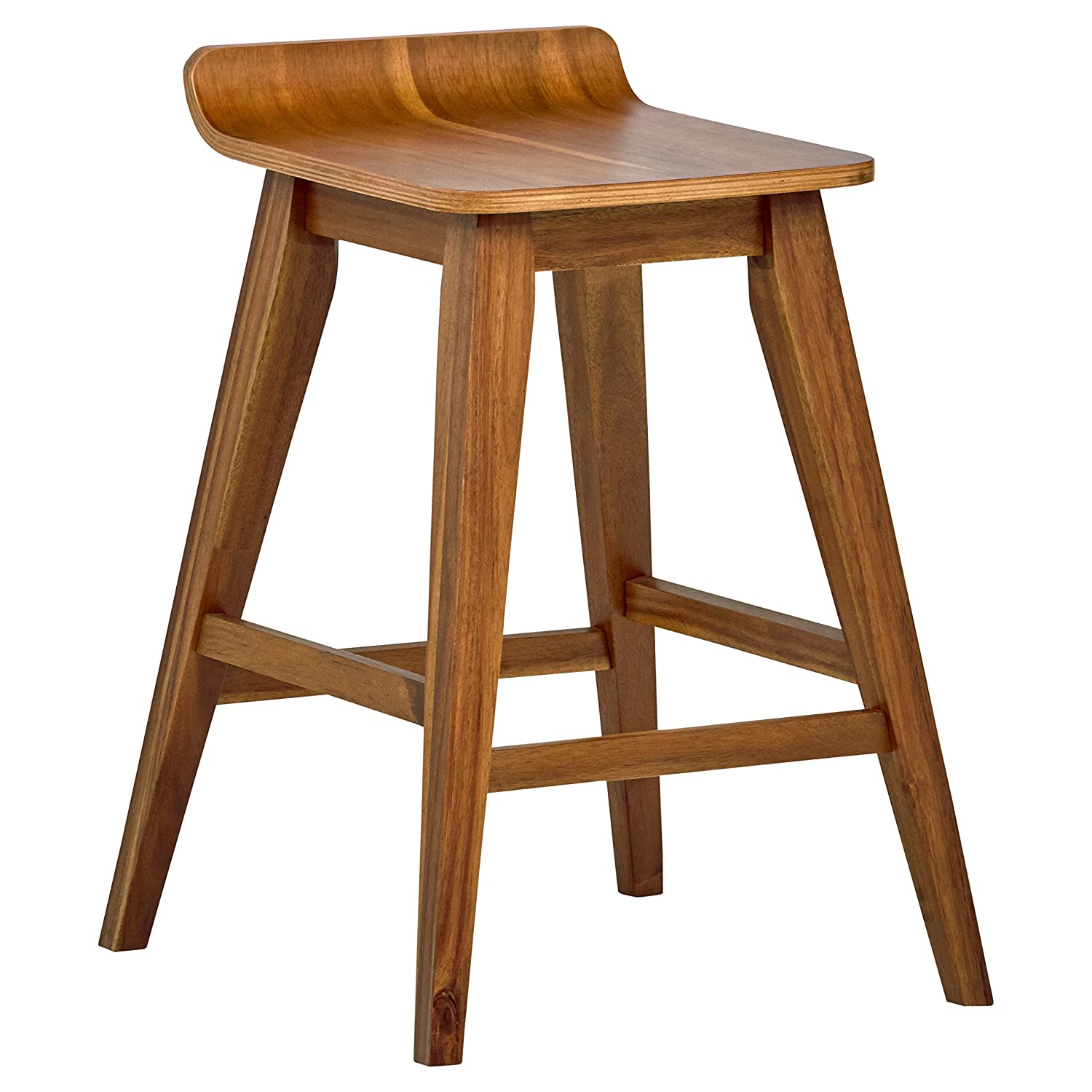 Cool Stone Beam Fremont Rustic Kitchen Counter Saddle Farmhouse Bar Stool 25 5 Inch Height Natural Wood Dailytribune Chair Design For Home Dailytribuneorg