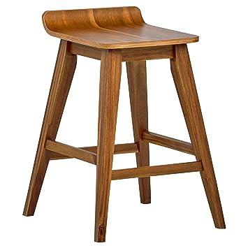 Terrific Stone Beam Fremont Rustic Kitchen Counter Saddle Farmhouse Bar Stool 25 5 Inch Height Natural Wood Machost Co Dining Chair Design Ideas Machostcouk