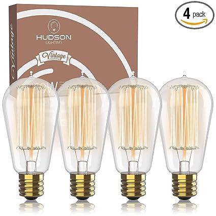 Vintage Incandescent Edison Bulb Set 60 Watt 2100k Warm White