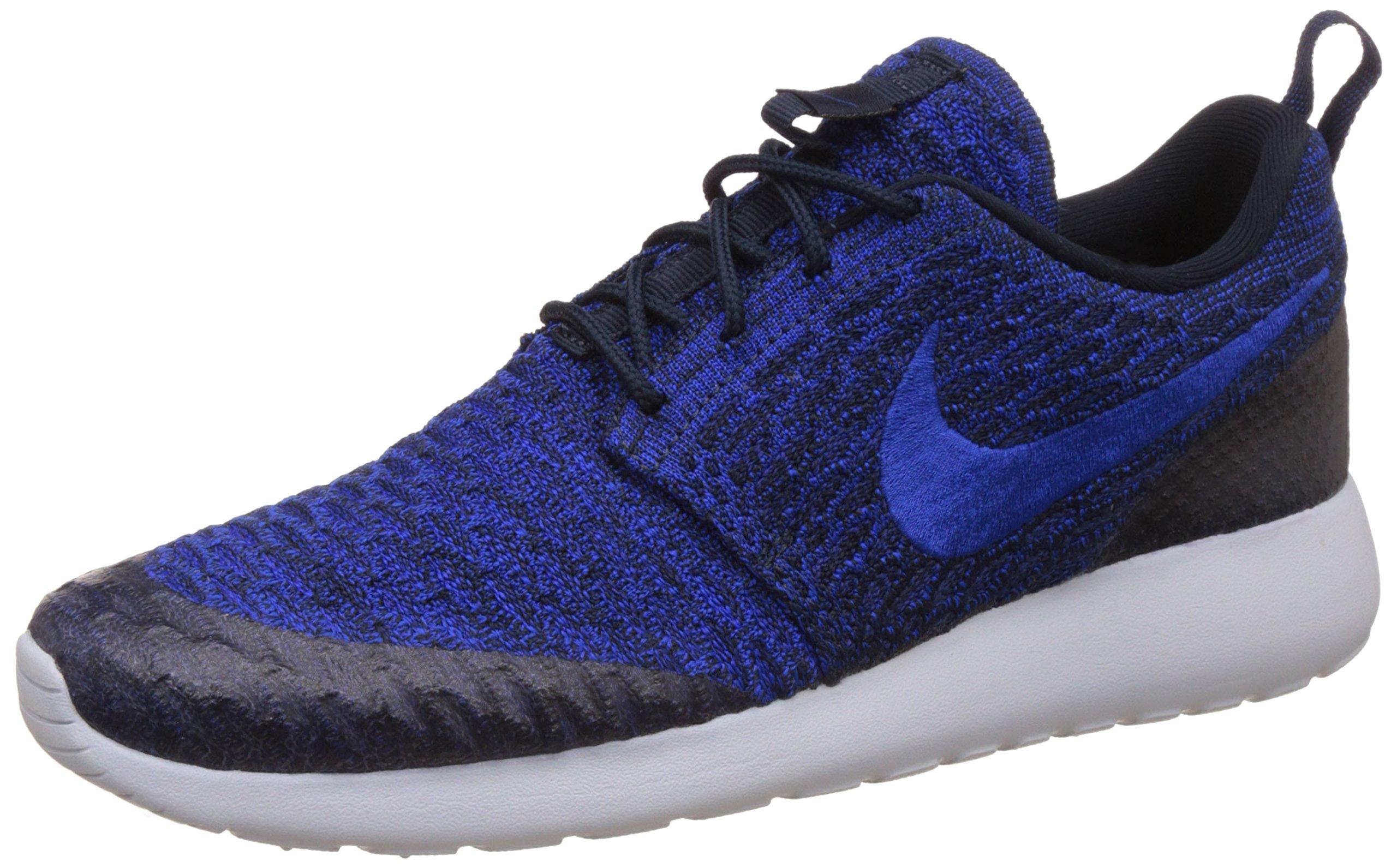 NIKE WMNS Rosherun Flyknit Womens Sneaker Blue 704927 403, Size:37.5