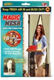 Magic Mesh MM011124 Screen Door with 18 Magnets, 83X19.5-Inch, Black
