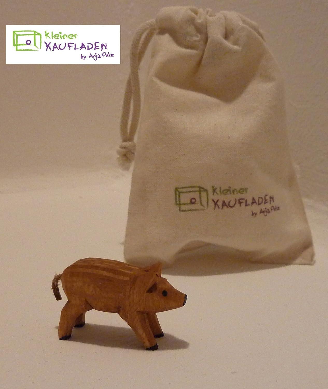 Frischling Wildschwein von Lotte Sievers-Hahn Krippenfigur mit Baumwollbeutel