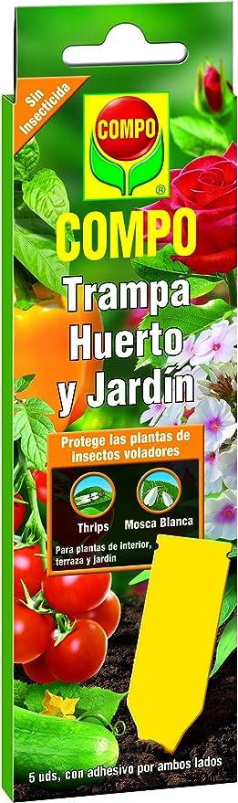 Compo 1012202011 Trampas Huerto y Jardín Adhesivas de Color Amarillo, Incluye Colgador, Sin insecticida, 5 unidades: Amazon.es: Jardín