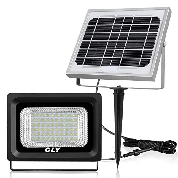 CLY 60 LED Solar Lights, Outdoor Security Floodlight, 300 Lumen, IP66 Waterproof, Auto-induction, Solar Flood Light for Lawn, Garden (Color: Daylight White, Tamaño: Model 1)