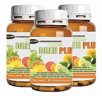 Drenante para adelgazar | 3 BOX Suplemento diurético | Dren Plus 60 comprimidos | formulación con