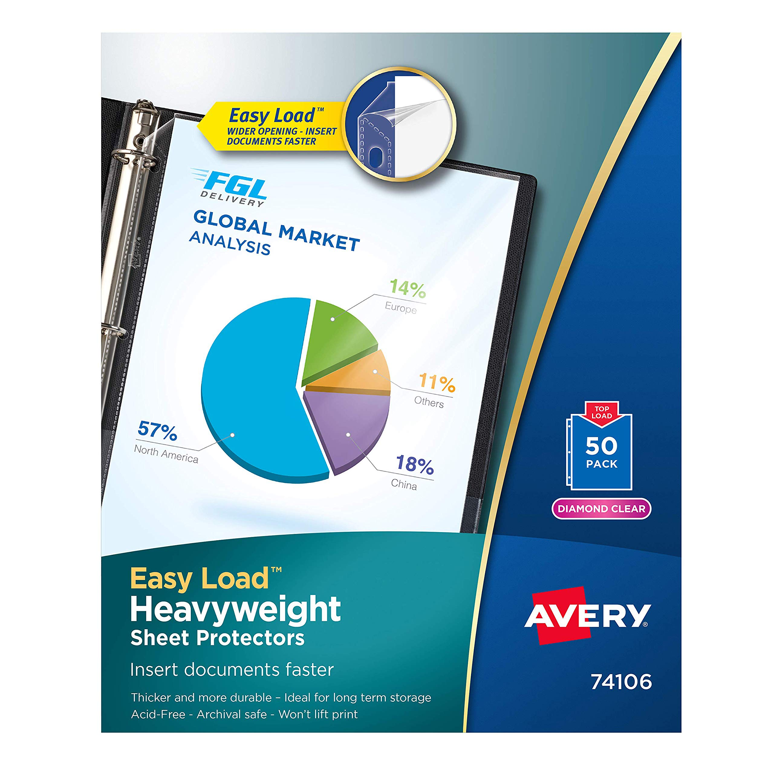 AUSAYE 100Pack Plastic Sheet Protectors 8.5 x 11 Inch No-Glare Heavyweight Page Protectors Archival Safe 3-Hole Design for Top Load for 8.5 x 11 Inch Sheets