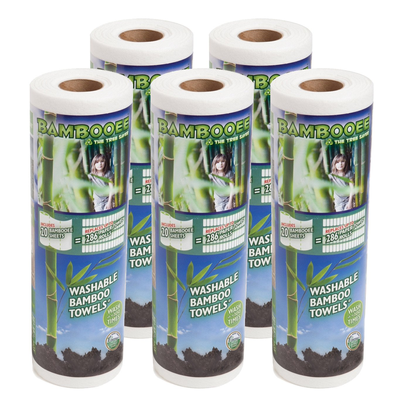 Single roll, each roll comes with 20 sheets of Bamboee Towels Bambooee Reusable Bamboo Towel