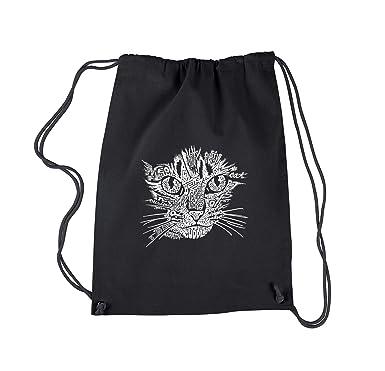 Amazon.com: Arte de la palabra – Mochila gato cara la Pop ...