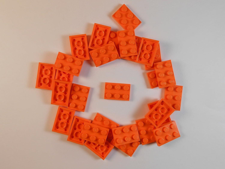 LEGO 2X3 Plates. LOT of 50. Orange