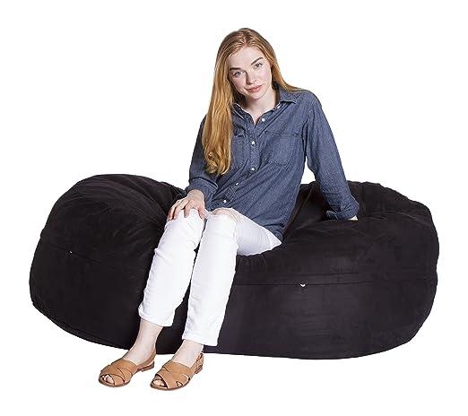 Peachy Giant Bean Bag Chairs Econo Foam Filled Lounge Sac Vintage Seude Machost Co Dining Chair Design Ideas Machostcouk
