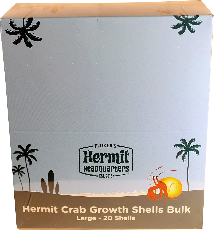 FLUKER'S Hermit Crab Growth Shells Bulk Large