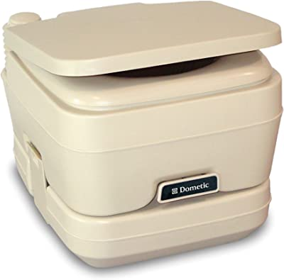 Dometic 301096202 2.5 Gallon Portable Toilet, Parchment