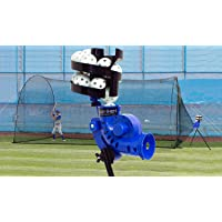 Trend Sports Sandlot 4-In-1 Batting Cage, Pitching Machine, Ball Feeder, and Poly Baseballs for Kids, Teens, and Adults