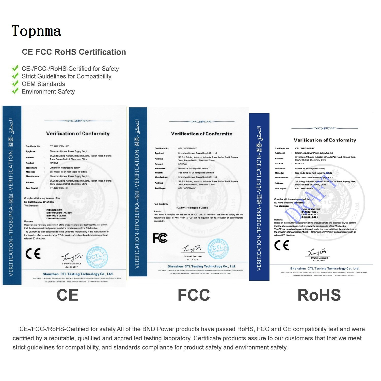 HP ZBook 14 15u Serie Port/átiles Bater/ía Reemplazar para CM03 CO06 CO06XL HSTNN-IB4R HSTNN-DB4R 716723-271. Topnma bateria para HP CM03 CM03XL HP EliteBook 840 740 745 750 755 845 850 855