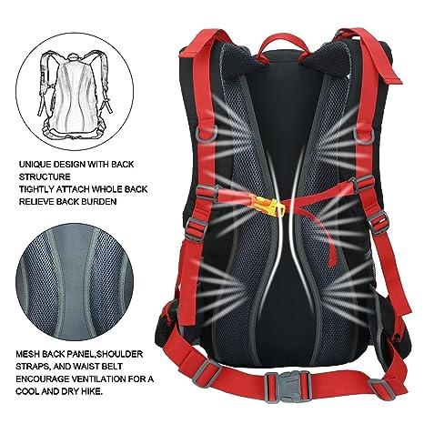 9b623c8980 Zaino da Trekking 50 L (45 L+ 5 L), in Nylon Impermeabile Outdoor Zaino,  Tracolla di Regolazione Traspirante Zaino da Escursione by Newpurslane:  Amazon.it: ...