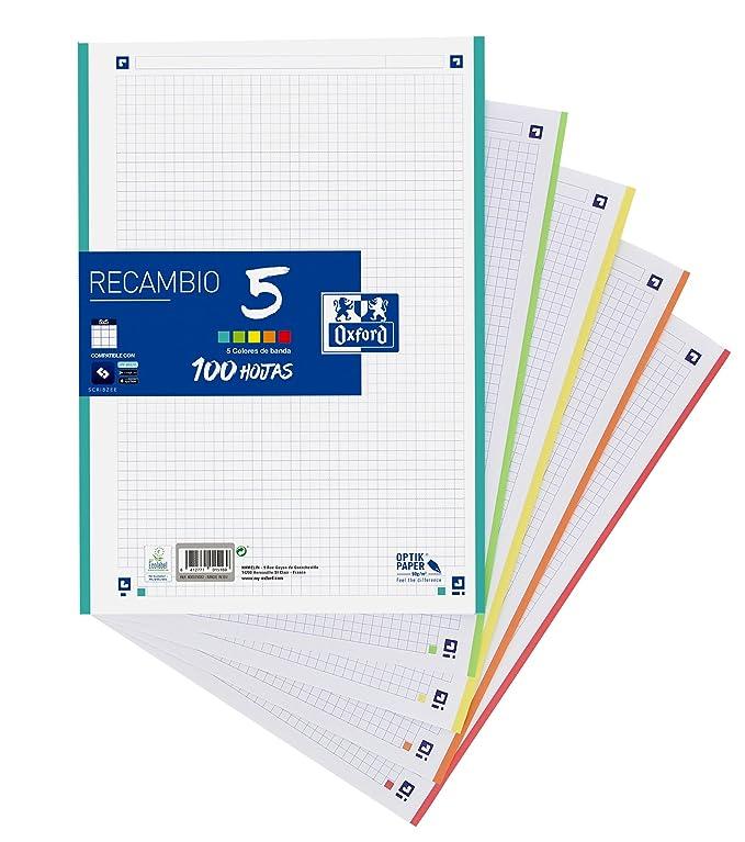 Oxford School - Carpeta con recambio, A4, color ice mint: Amazon.es: Oficina y papelería