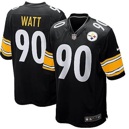 5f6235f30b6 Amazon.com: Nike Men's Pittsburgh Steelers T.J. Watt #90 Home Game ON Field  Football Jersey Black/Pittsburgh Yellow/White: Clothing
