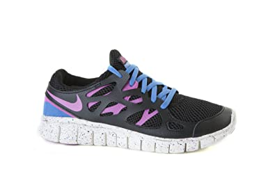 best loved 6d134 ee187 NIKE Free Run 2 EXT Trainer Black Pink Blue 536746 008