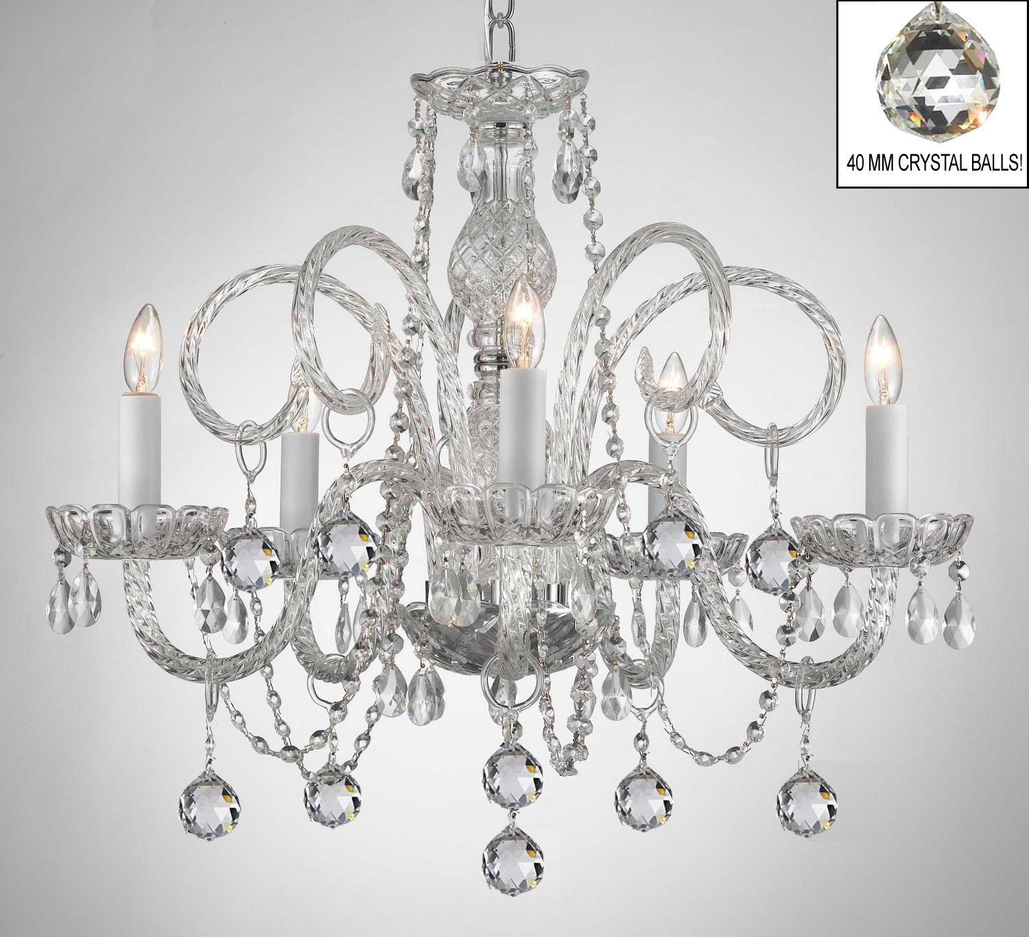 Swarovski Crystal Dollhouse Chandelier: Swarovski Crystal Trimmed Chandelier! All Crystal