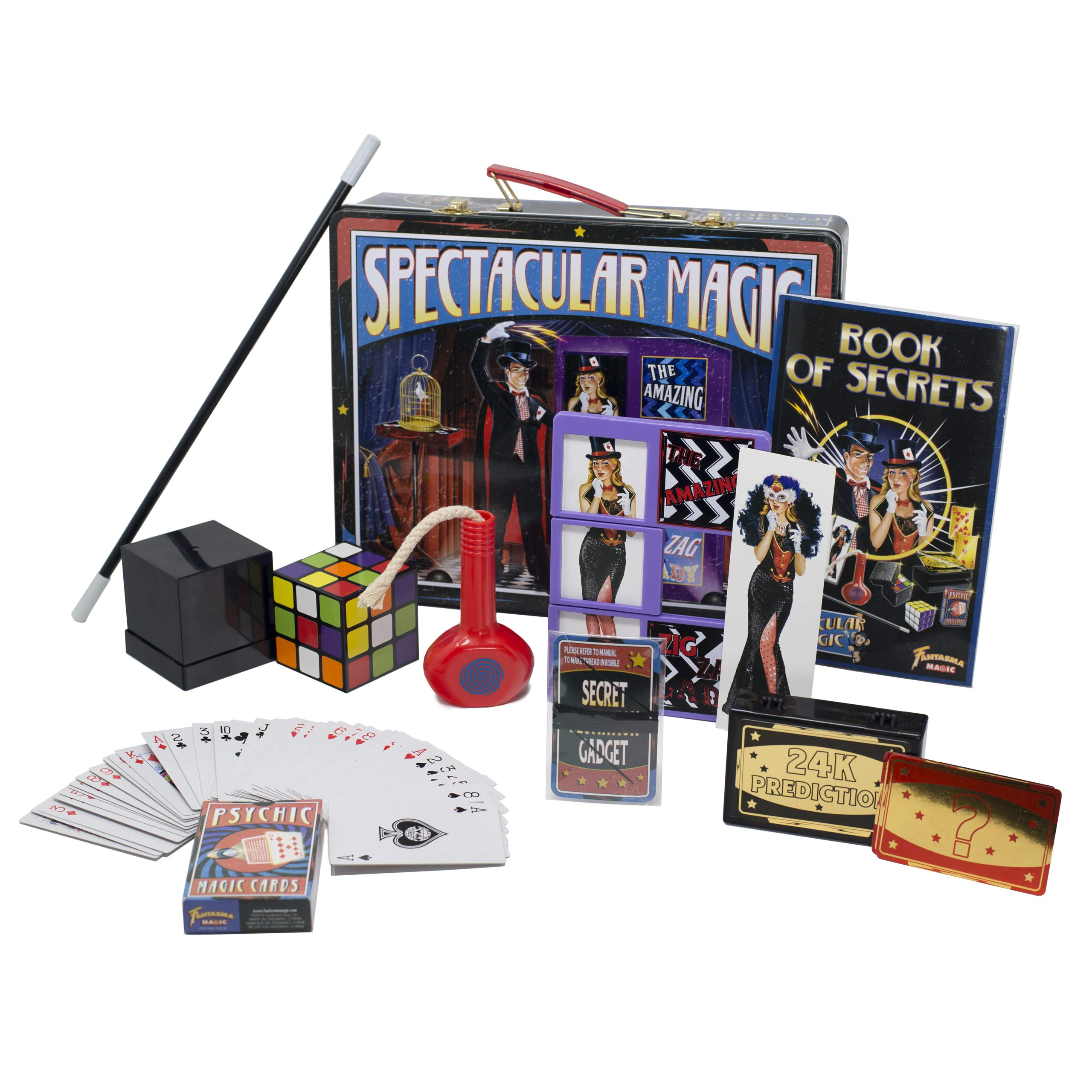 Fantasma Spectacular Magic Box Set for Kids - Magic Kit and Card Trick - Learn 135 Magic Tricks - Great for Boys and Girls 7 Years and Older