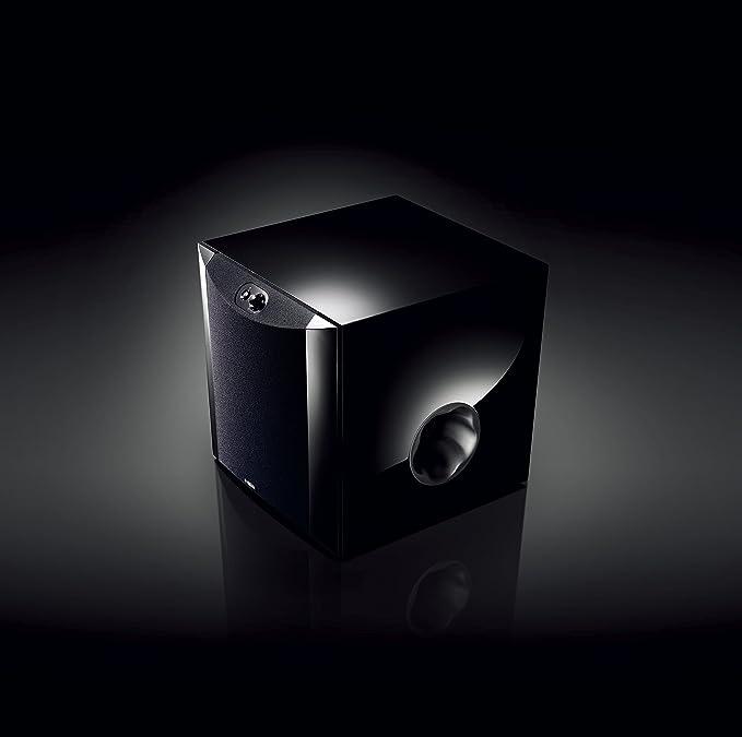 Yamaha Ns Sw300 Front Firing Subwoofer Mit Patentiertem Twisted Flare Port Bassreflexrohr Klavierlack Schwarz Audio Hifi
