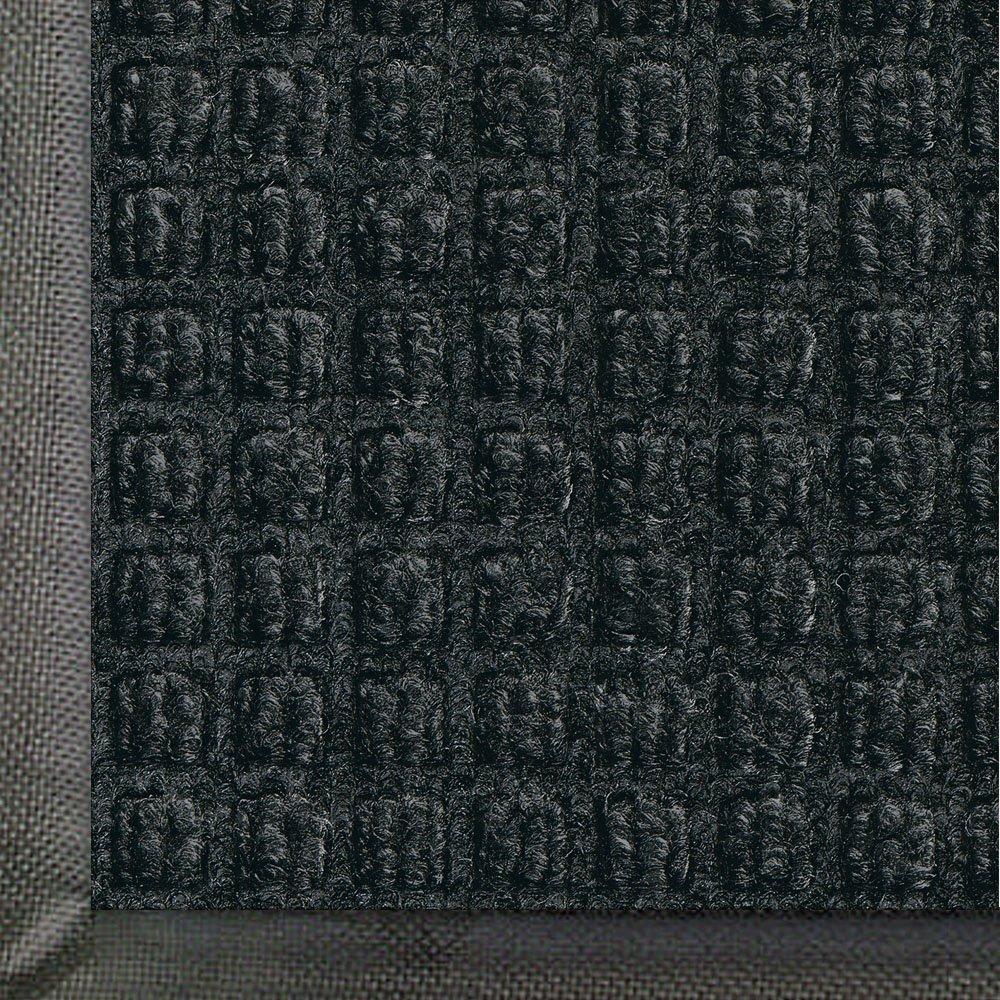 Andersen 200 WaterHog Classic Polypropylene Fiber Entrance Indoor/Outdoor Floor Mat, SBR Rubber Backing, 5' Length x 3' Width, 3/8'' Thick, Charcoal