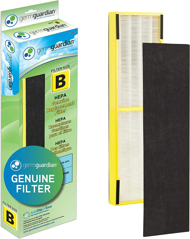 Germ Guardian FLT4825 HEPA GENUINE Air Purifier Replacement Filter B for GermGuardian AC4300BPTCA, AC4900CA, AC4825, AC4825DLX, AC4850PT, CDAP4500BCA, CDAP4500WCA and More, 1-Pack: Home & Kitchen