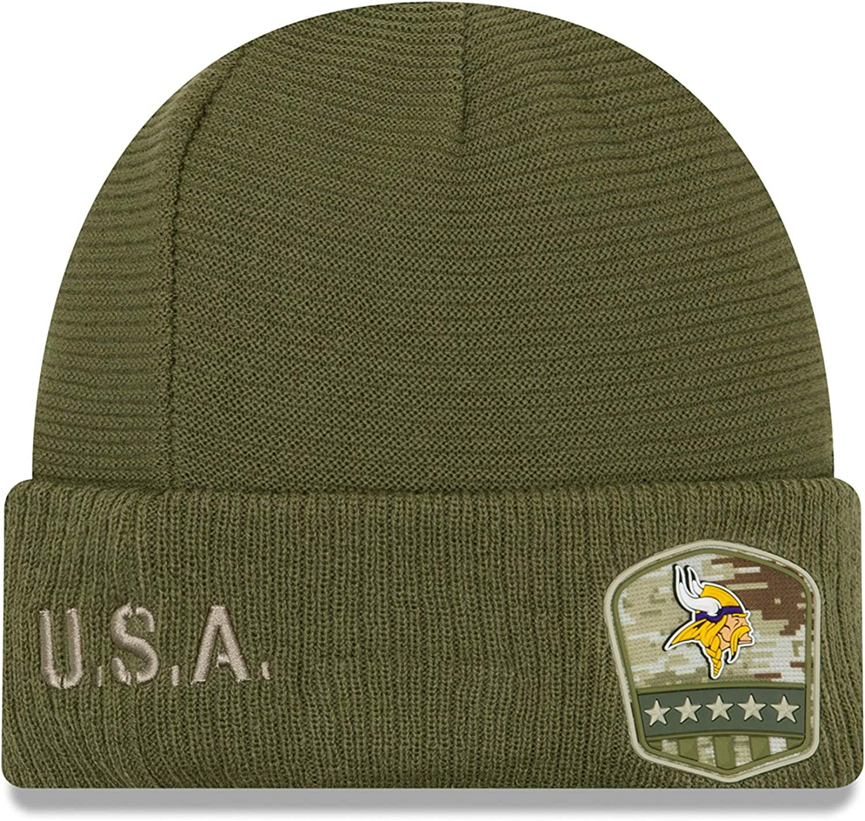 New Era 2019 Salute to Service Sideline Cuffed Sport Knit Hat