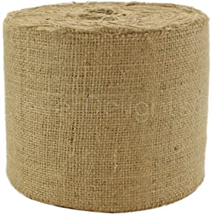 "CleverDelights 6"" Natural Burlap - Industrial Grade - 50 Yard Roll - Tight-Weave Jute Burlap Fabric"