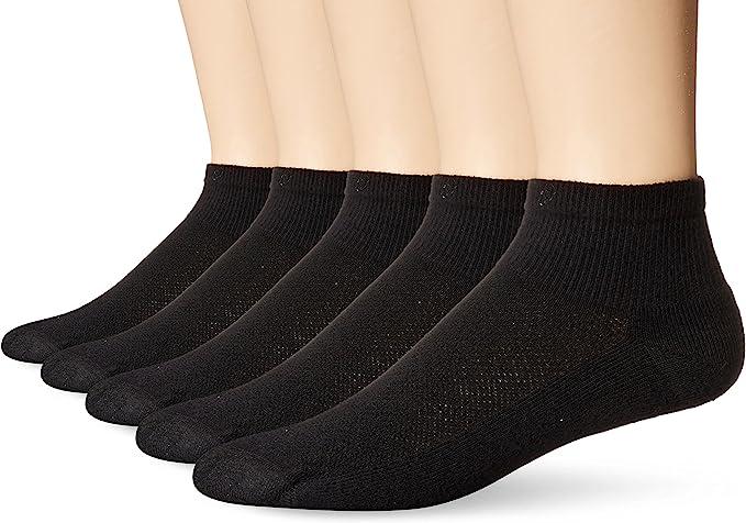 6 Pairs HANES X-TEMP Men/'s Black Stretch Athletic Work Crew Sock Size10-13