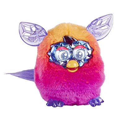 Furby Boom Crystal Series Furby (Orange/Pink): Toys & Games
