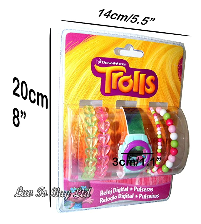 Amazon.com: Trolls,Digital Watch & Bracelets,Gift Set, Official Licensed: Sports & Outdoors